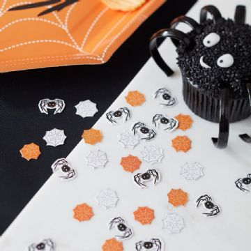 Spooky Spider Halloween Party Table Confetti